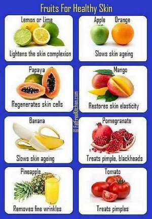 healthy fruits for skin and hair what are healthy fruits
